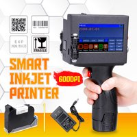 2800mAh Portable Handheld Smart Inkjet Printer Coder Coding Machine Print Date QR Code with LED Screen With Ink Cartridge