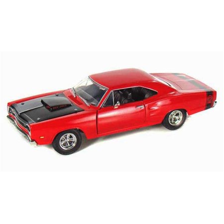 1 by 24 1969 Dodge Coronet Super Bee Diecast Model Car - Red
