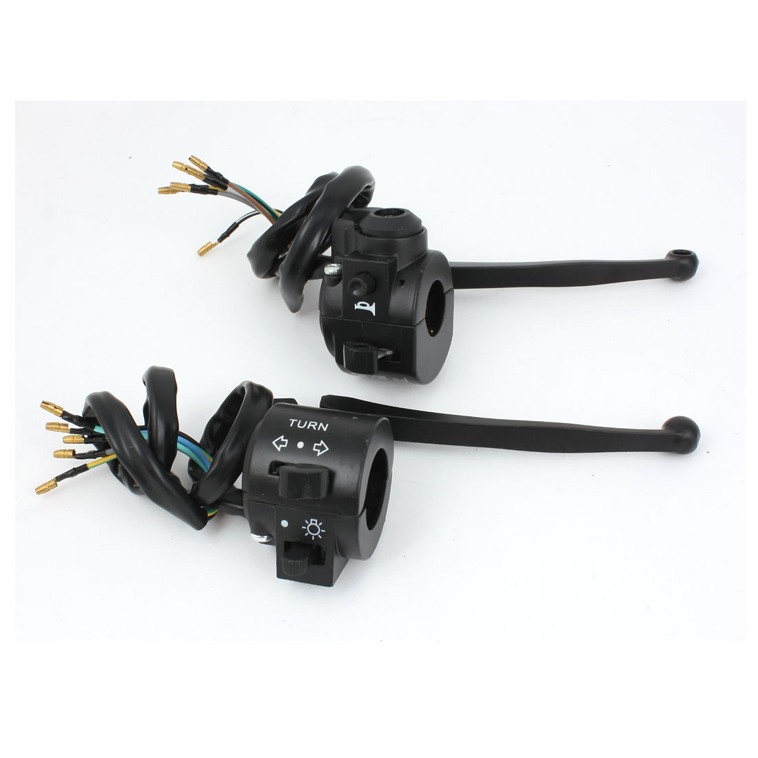 """Unique Bargains Scooter Motorcycle ATV 7/8"""" Hole Left Right Handle Bar Switch Controller Pair"""