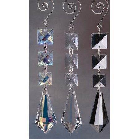 Icicle Acrylic Hanging Crystals Chandelier, 7-1/4-inch, Iridescent Clear