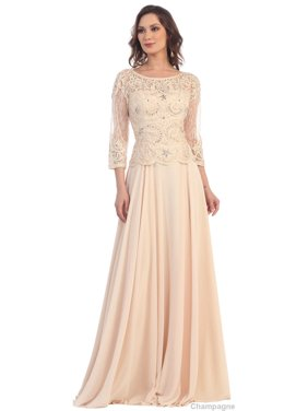 CLASSY MOTHER OF THE BRIDE GROOM EVENING GOWN