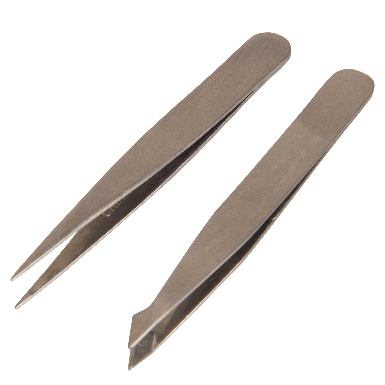 Trim Beautycare Mini Slant/Point Tweezers, 3 pc