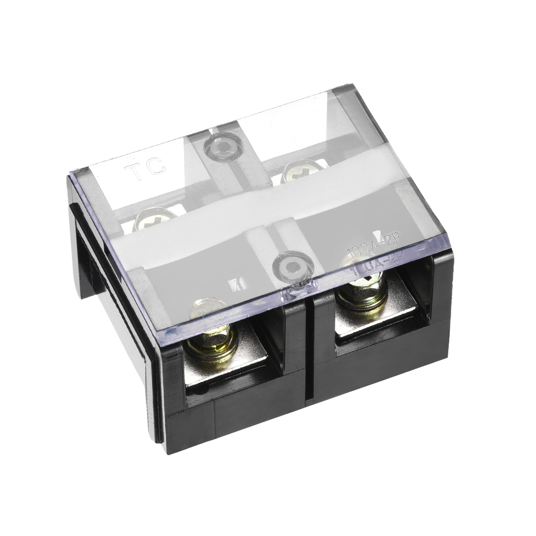 Barrier Terminal Block 600V 100A 2 Positions Dual Rows Screw Terminals 5 Pcs - image 3 of 3