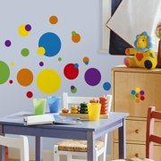 Wallhogs Primary Color Dots Wall Decal