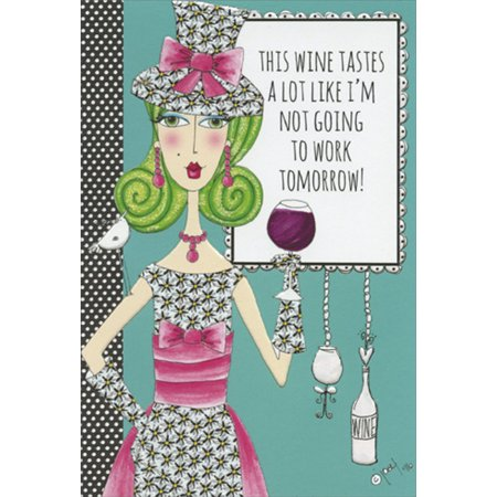 Pictura Not Going To Work Dolly Mamas Funny / Humorous Feminine Birthday Card for Her /