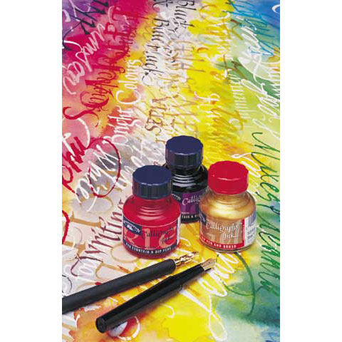 Winsor & Newton - Calligraphy Ink - Dip Pen & Brush Ink - Black