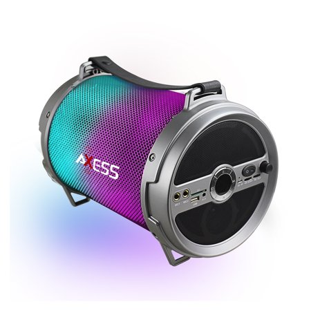 Axess Vibrant XL HIFI BT Media Speaker With Colorful RGB Lights, AUX, FM Radio, SD Card and microphone inputs (Pal Bt Portable Radio)