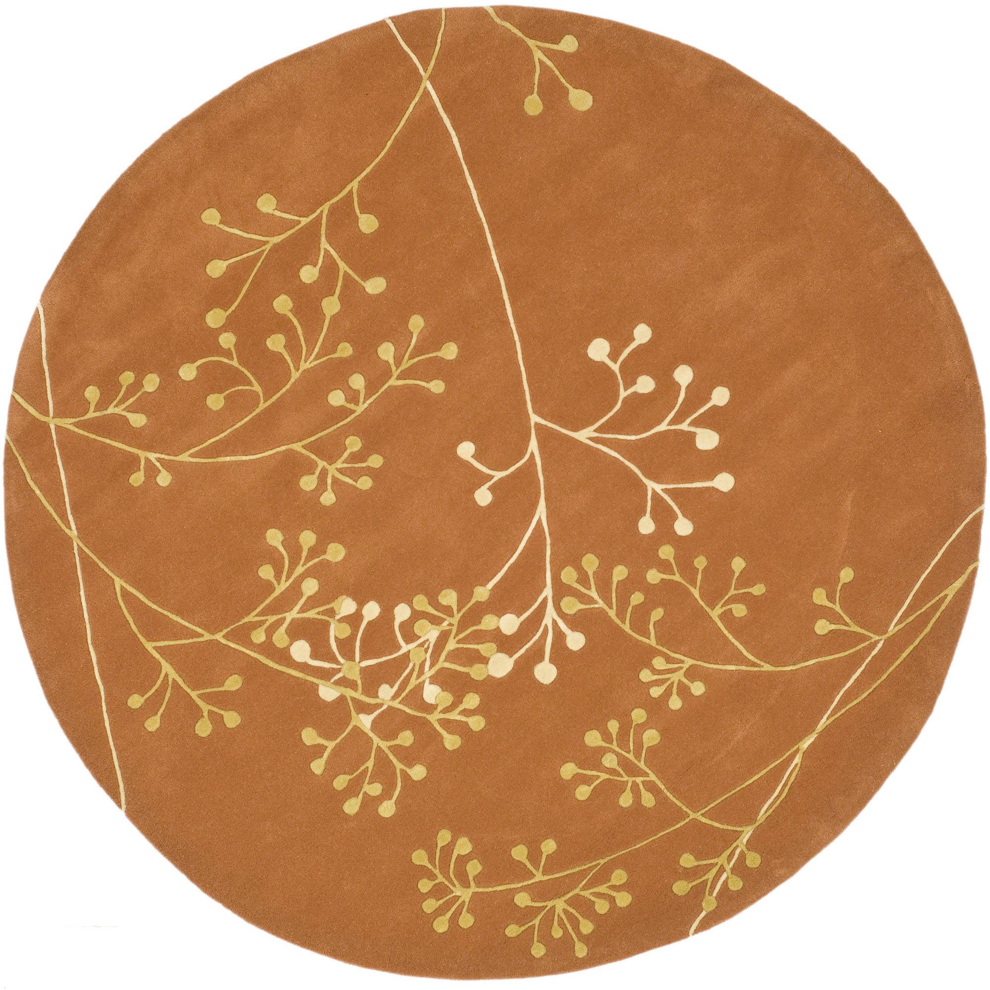 Safavieh Soho Piper Wool Round Rug, Rust