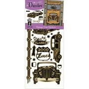 Dazzles Stickers -Vintage Car Black