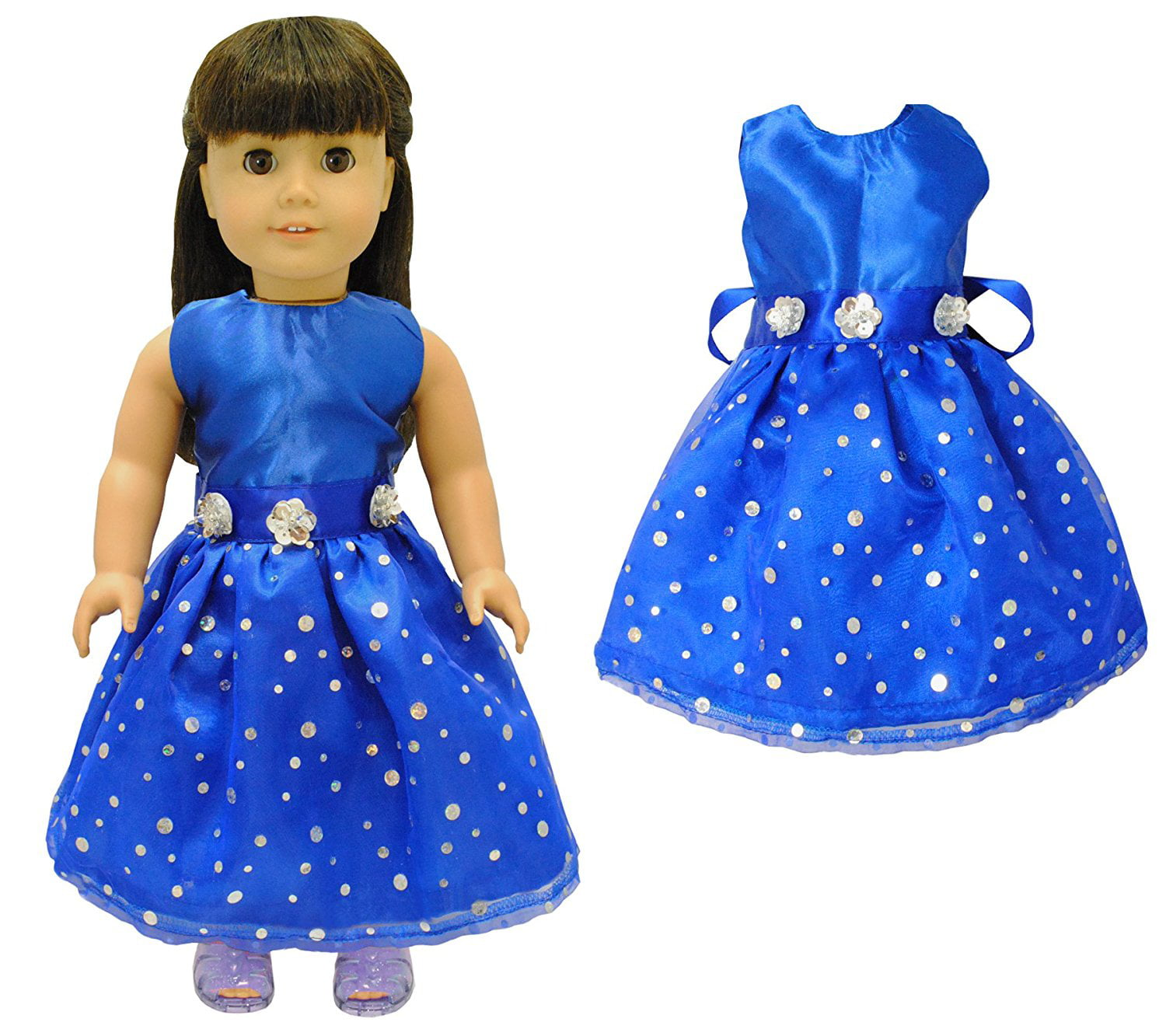 Dark Blue Sea Life Doll Dress Clothes Fits American Girl Dolls
