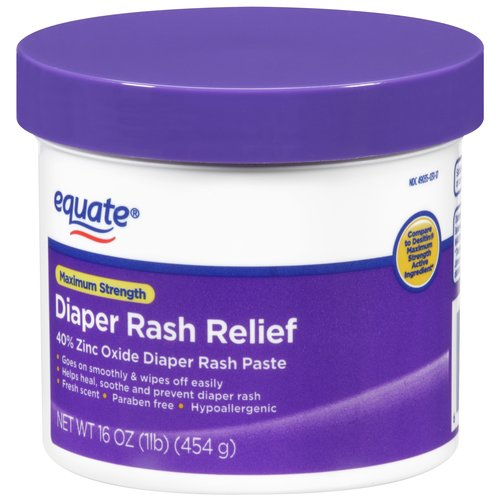 Equate Maximum Strength Diaper Rash Relief, Non-GMO, 16 oz
