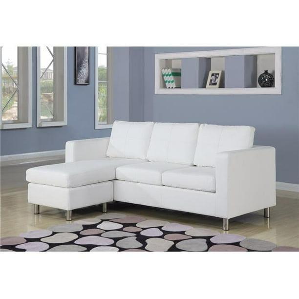 28 X 33 X 79 In Chic Sectional Sofa 44 White Walmart Com Walmart Com