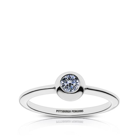 Pittsburgh Penguins - Pittsburgh Penguins Engraved White Sapphire Ring - Pittsburgh Steelers Rings