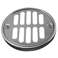 Westbrass Shower Strainer Set with Screws, Grill and Crown in Satin Nickel