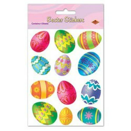 Easter Egg Stickers Party Accessory (1 count) (4 Shs/Pkg)