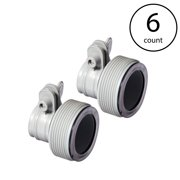 Intex Replacement Hose Adapter B w/ Collar for Filter Pump Conversion (6 Pack)