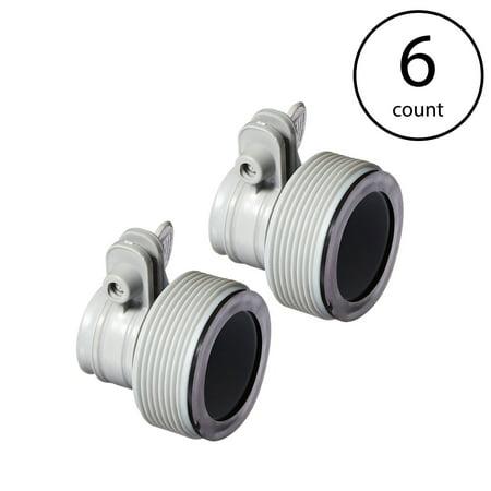 Intex Replacement Hose Adapter B w/ Collar for Filter Pump Conversion (6 (Pump Head Conversion)