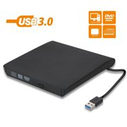 TSV USB 3.0 External CD DVD Drive, Portable CD DVD +/-RW Drive/Writer/Burner/Reader Optical Player, Compatible for Windows 10/8/7 Laptop Computer Mac MacBook Pro Air iMac HP Dell Asus Acer Lenovo