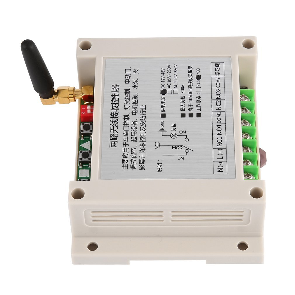 Universal 12 48v Two Way Wireless Receiver Controller Manual Switch For Dc Motor With 3 Key Remote Control Reversible Regulator