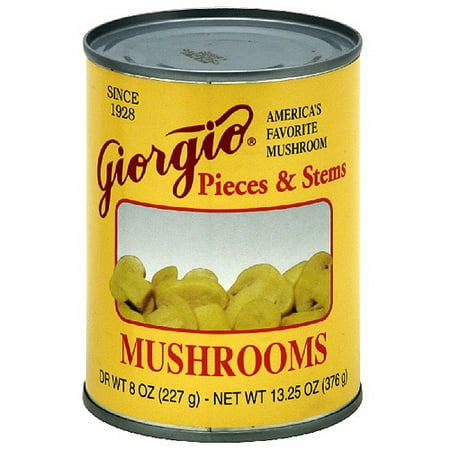 Giorgio Mushroom Pieces & Stems, 8 oz (Pack of