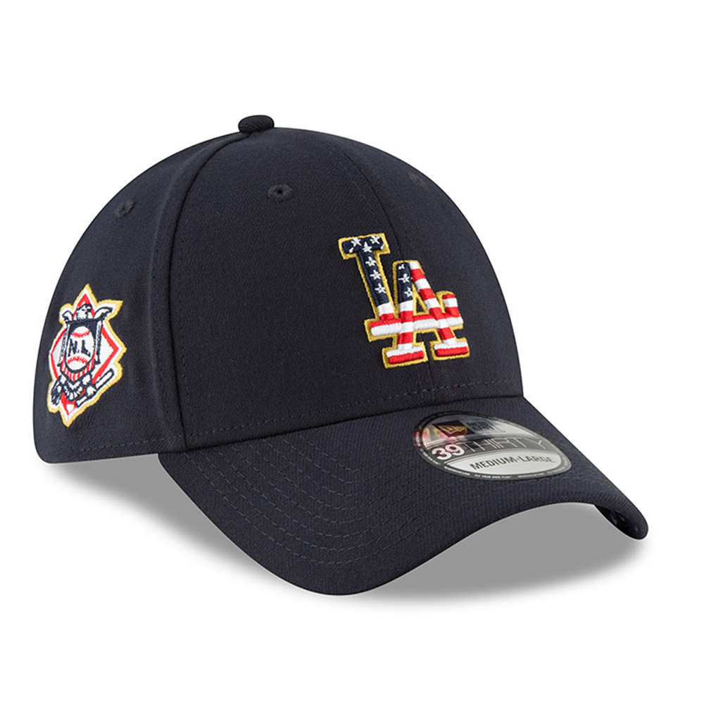 best sneakers ee082 e42e9 ... hot los angeles dodgers new era 2018 stars stripes 4th of july 39thirty  flex hat fcad5