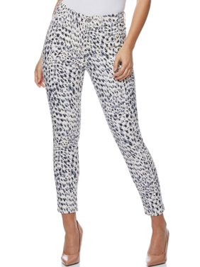 Sofia Jeans by Sofia Vergara Rosa Curvy High Waist Animal Leopard Ankle Jeans, Women's