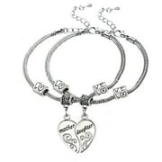 Mother Daughter Bracelets (2pcs) - Mother Daughter Jewelry Set-Perfect Gift for Mom or Daughter