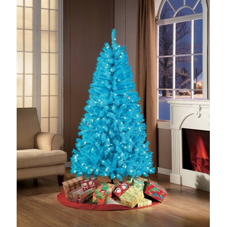 Holiday Time 6ft Pre-Lit Teal Blue Christmas Tree - Holiday Time 6ft Pre-Lit Teal Blue Christmas Tree - Walmart.com