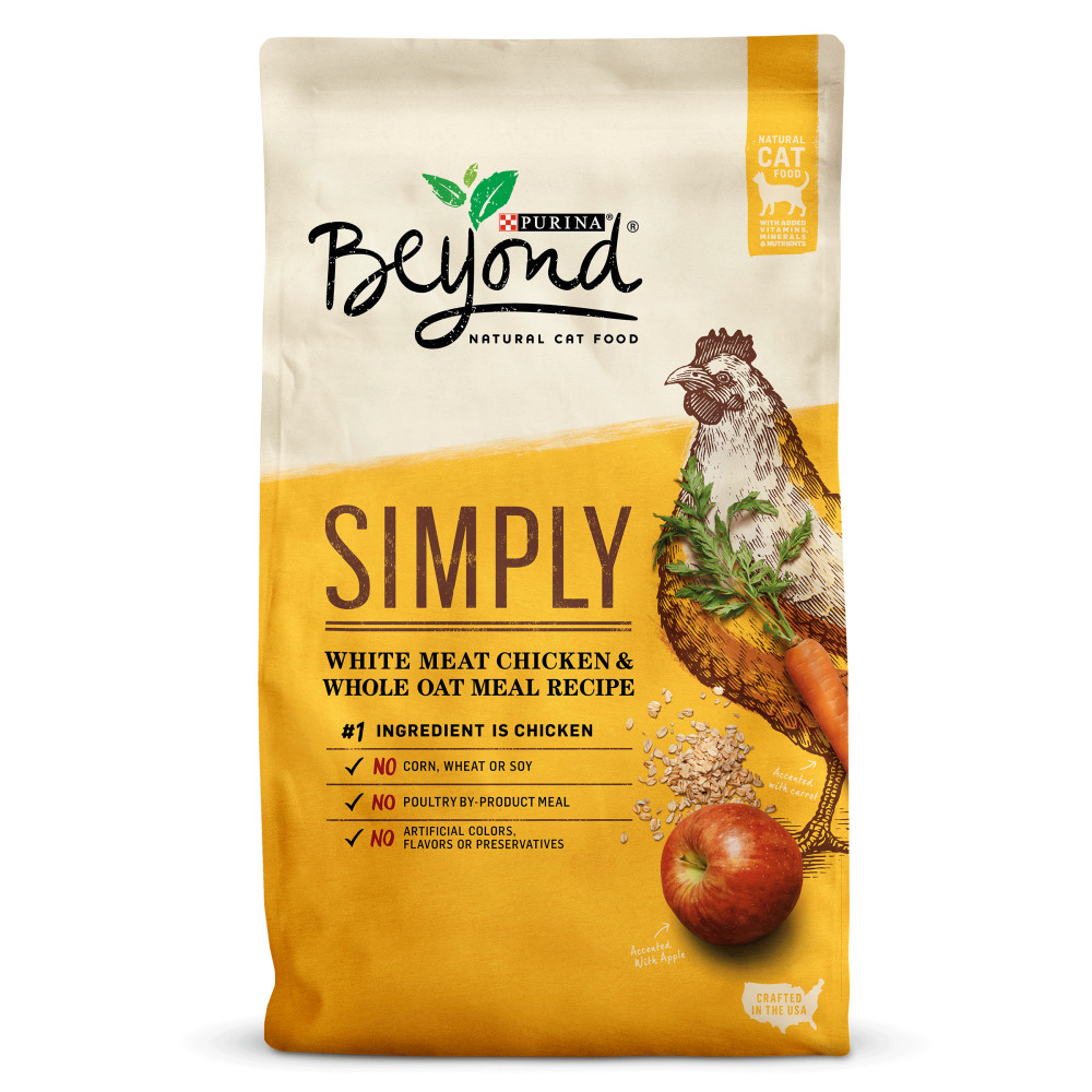 Purina Beyond Simply White Meat Chicken & Whole Oat Meal Recipe Adult Dry Cat Food, 3 Lb
