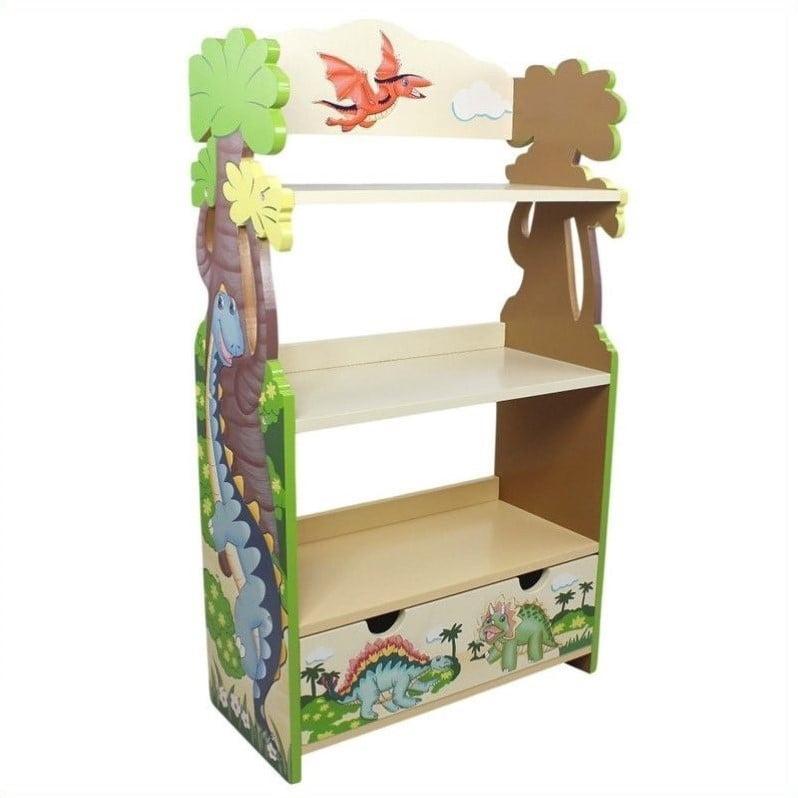 Fantasy Fields Hand Painted Dinosaur Kingdom Bookshelf