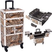 Sunrise I3264LPBR Leopard Trolley Makeup Case - I3264