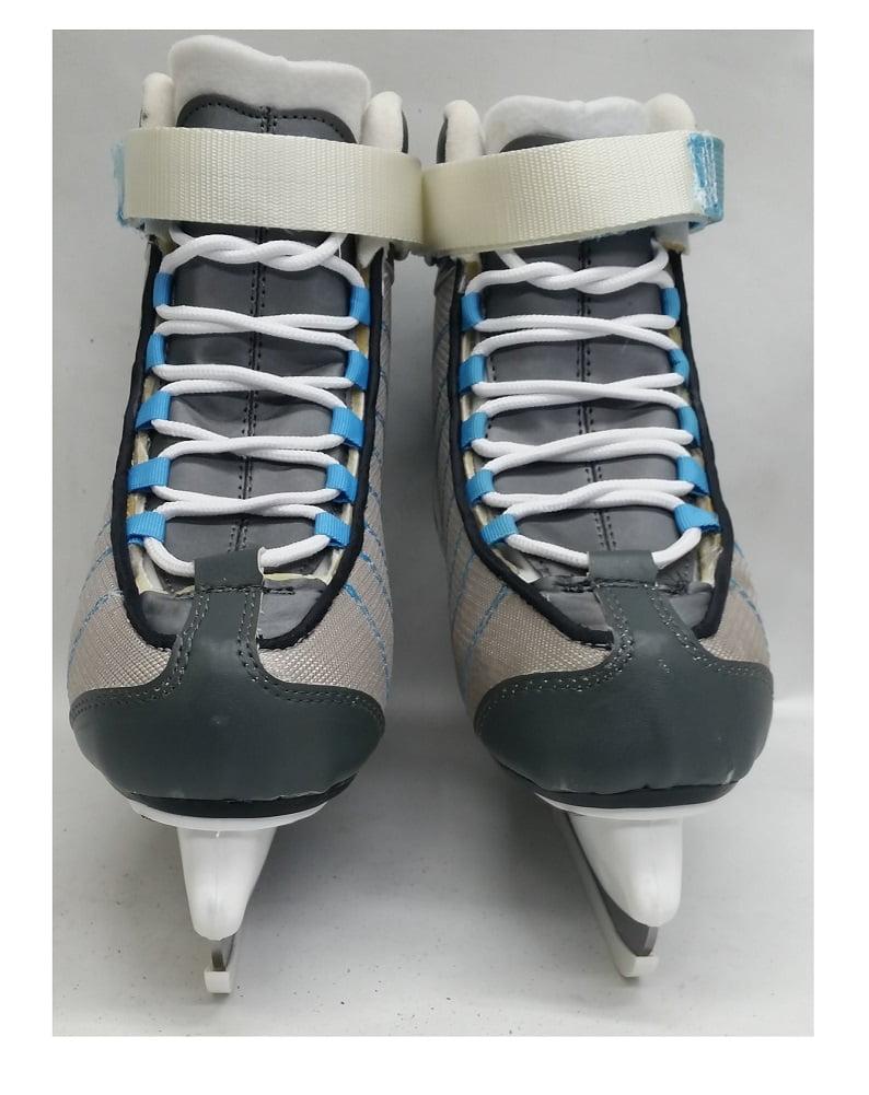 PowerTek Grey//Sky V3.0 TEK Ladies Figure Ice Skates