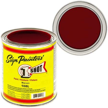 1 Shot Lettering Maroon Pinstriping Lettering Enamel Paint, (Maroon Paint)