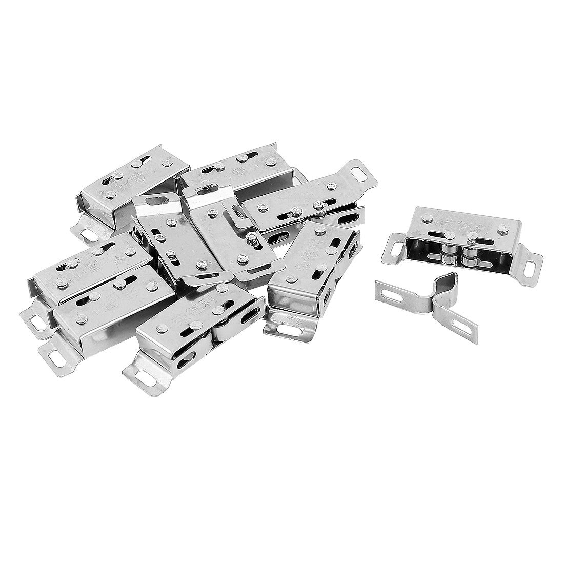 Housing Oven Door Double Roller Catch Latch Silver Tone 10pcs