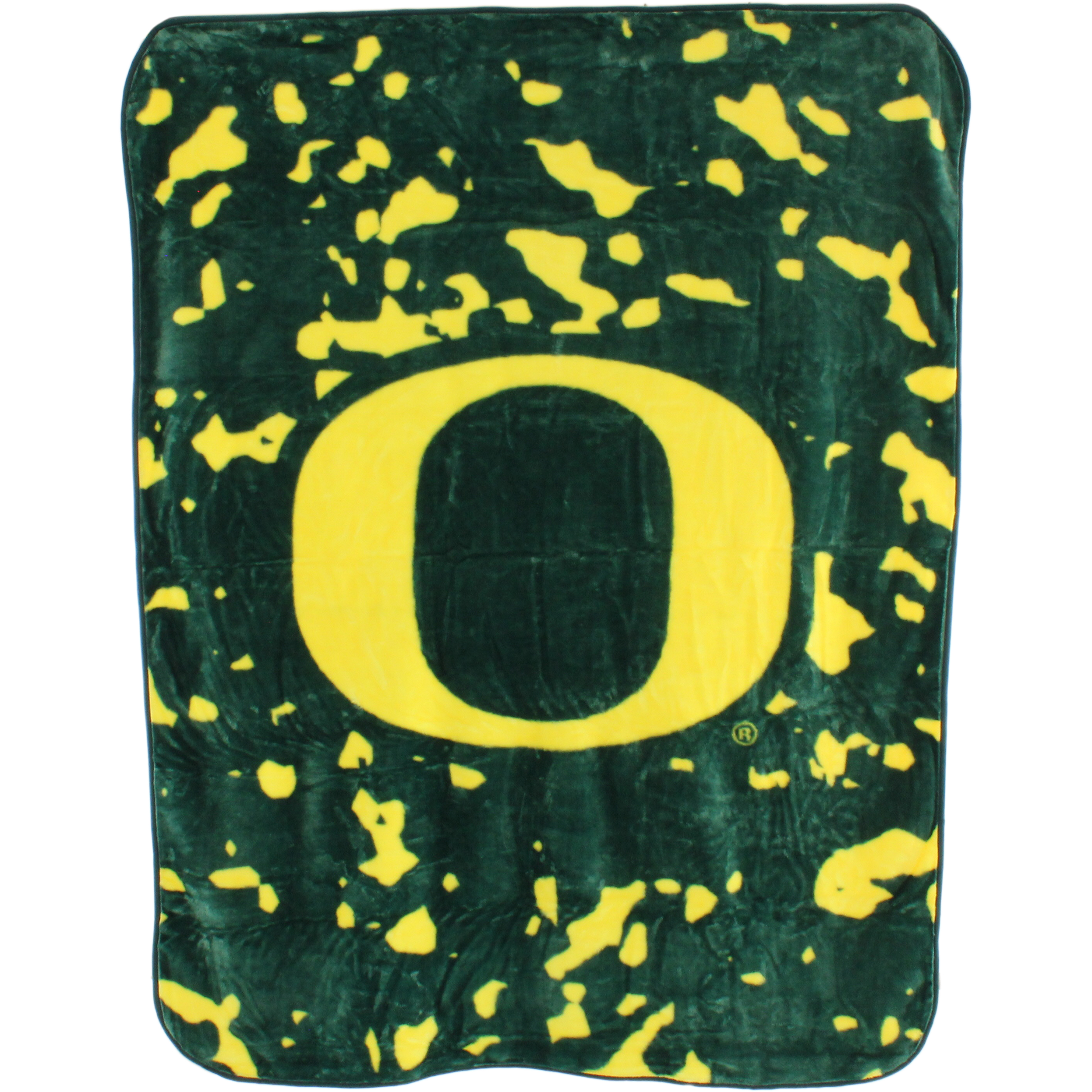 "College Covers Fan Shop Throws Oregon Ducks 63"" x 86"" Soft Raschel Throw Blanket"