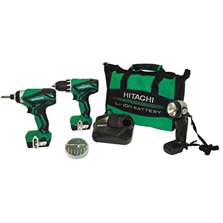 Factory-Reconditioned Hitachi KC10DFL2 12V Peak Cordless Lithium-Ion 3-Tool Combo Kit
