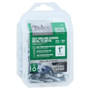 Drill Point Screws, Self-Tapping, Hex Washer Head, #12 x 1-In., 100-Pk.