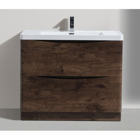 Morenobath smile 40 in free standing single sink bathroom - Walmart bathroom vanities with sink ...