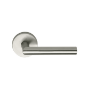 Omnia 12PR Privacy Door Leverset from the Stainless Steel Collection - 28° Degre