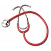 Labtron 300DLX-R Single Head Stethoscope, Red