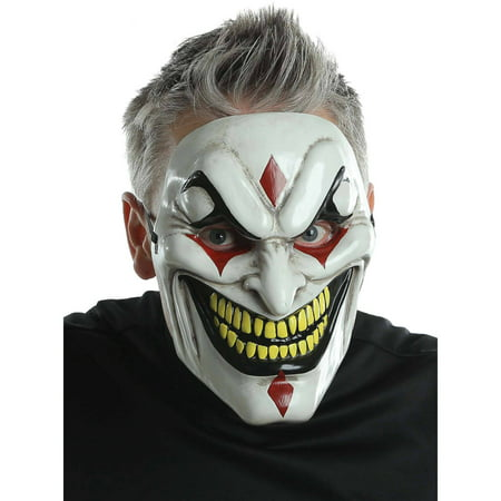 Evil Jester Injection Mask Adult Halloween Accessory