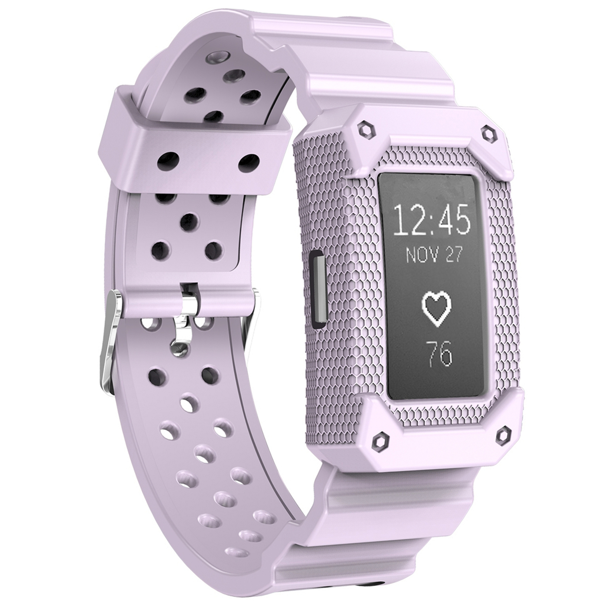 Moretek Replacement Wrist Band for Fitbit Charge 2 (Lavender)