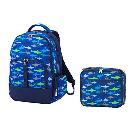 Reinforced Jaw (Reinforced Design Water Resistant Backpack and Lunch Bag Set - Jaw-Some Sharks )