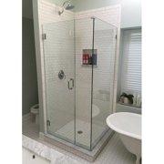 Glass Warehouse 46.5'' x 78'' Hinged Frameless Shower Door