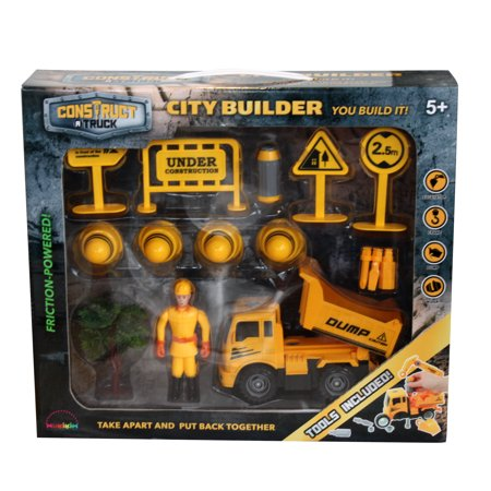 - Construct A Truck-City Builder Set-Dump. Create a construction site, take the truck apart&put it back together+Friction powered(3-toys-in-1!) Awesome award winning set that encourages creativity!
