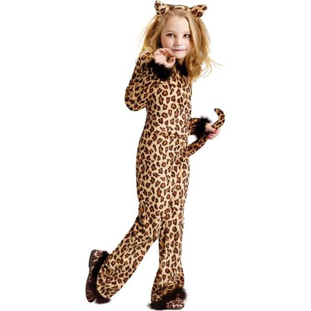 Child Pretty Leopard Costume (Large (12-14)), Includes: Jumpsuit, Cat ear headband, Tail By Fun World Costumes - Leopard Ears And Tail
