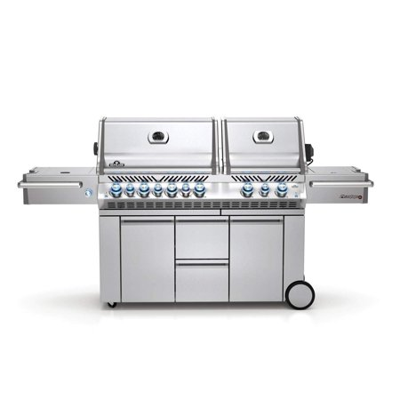 Fire And Ice Grill - Napoleon Prestige PRO 825 Grill on Cart w/ IR Rotiss., Side Burner, Natural Gas