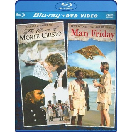 The Count Of Monte Cristo / Man Friday (Blu-ray + DVD) for $<!---->