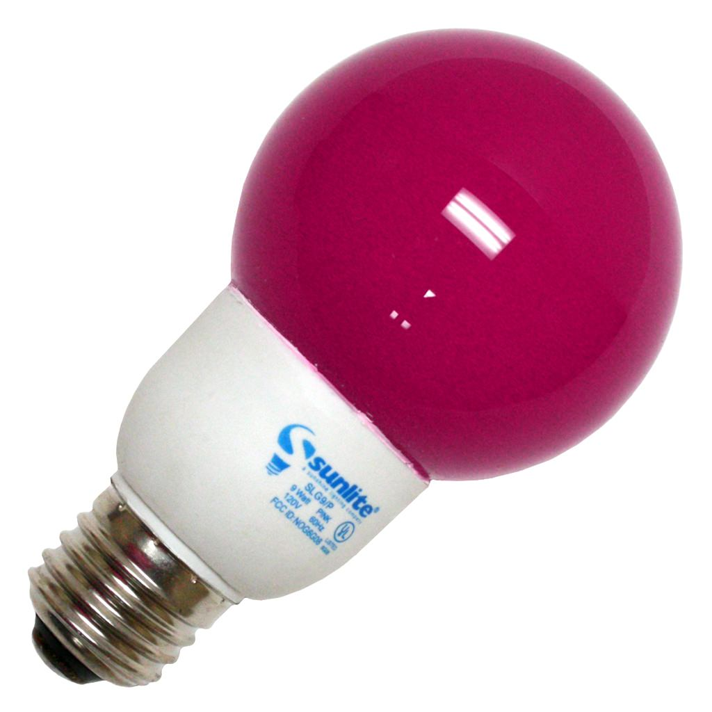 SUNLITE Compact Fluorescent 9W Colored Red Globes Bulb