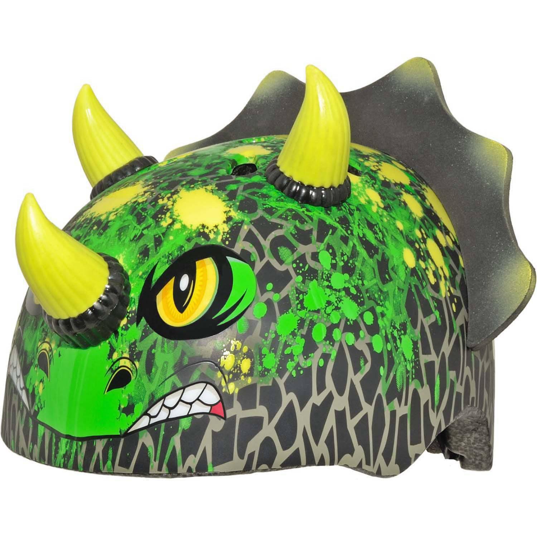 C-Preme Raskullz T-Chopz Triceratops Toddler Bike/Skate Helmet, Black/Green